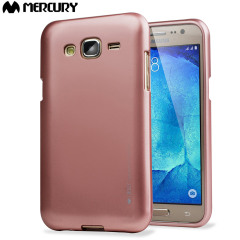 Mercury Goospery iJelly Samsung Galaxy J5 Gel Case - Metallic Rose