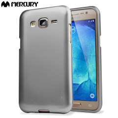Mercury Goospery iJelly Samsung Galaxy J5 Gel Case - Metallic Silver
