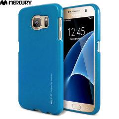 Mercury Metallic Silicone Finish Hard Case Samsung Galaxy S7  - Blue