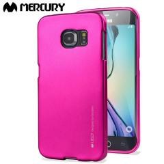 Mercury iJelly Samsung Galaxy S6 Edge Gel Case - Hot Pink