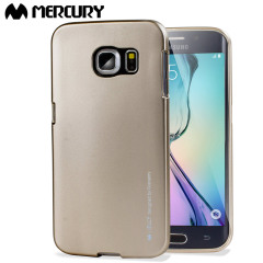 Mercury iJelly Samsung Galaxy S6 Edge Gel Case - Metallic Gold