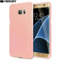 Mercury iJelly Samsung Galaxy S7 Edge Gel Case - Metallic Rose Gold