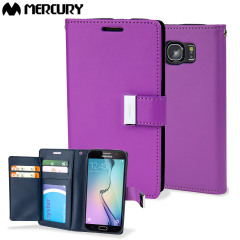 Mercury Rich Diary Samsung Galaxy S6 Premium Wallet Case - Purple