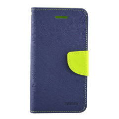 Mercury Wallet Stand Case for Sony Xperia M2 - Blue and Green