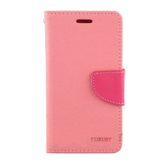 Mercury Wallet Stand Case for Sony Xperia M2 - Pink
