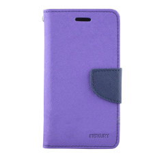 Mercury Wallet Stand Case for Sony Xperia M2 - Purple and Blue