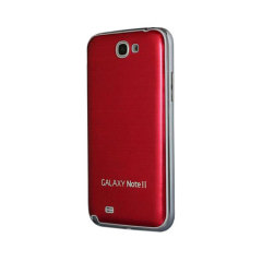 Metal Replacement Back for Samsung Galaxy Note 2 - Red