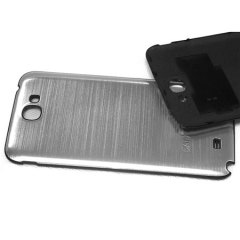 Metal Replacement Back for Samsung Galaxy Note 2 - Silver
