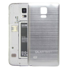 Metal Samsung Galaxy Note 4 Replacement Back Cover - Silver