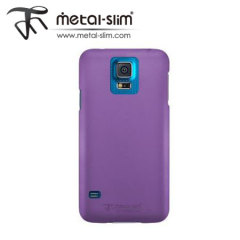 Metal-Slim Protective Case for Samsung Galaxy S5 - Purple