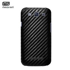 Metal-Slim PU Protective Case for Samsung Galaxy S3 - Black