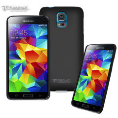Metal-Slim Samsung Galaxy S5 Rubber Case - Black