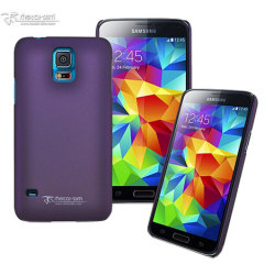 Metal-Slim Samsung Galaxy S5 Rubber Case - Purple