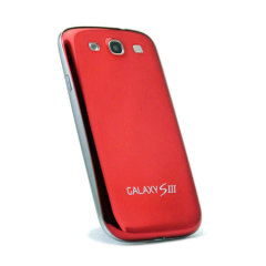 Metal Style Replacement Back for Samsung Galaxy S3 - Red