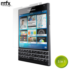 MFX BlackBerry Passport Screen Protector 5-in-1 Pack