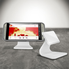 Micro-Suction Smartphone Desk Stand - White