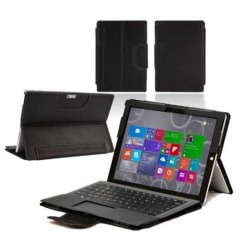 Microsoft Surface Pro 3 Leather-Style Stand Case - Black