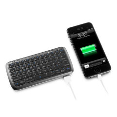 Mini Bluetooth Keyboard with 5000mAh Power Bank