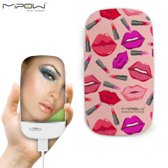 MiPow 3000mAh Portable Charging Compact Mirror Power Bank - Lips