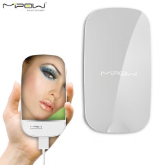 MiPow 3000mAh Portable Charging Compact Mirror Power Bank - White