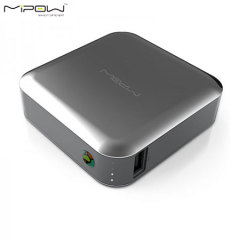 MiPow 7800mAh Power Cube with Dual USB Ports - Stainless Steel