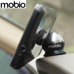 Mobio Go Mount Universal In-Car Smartphone & Tablet Holder - Chrome