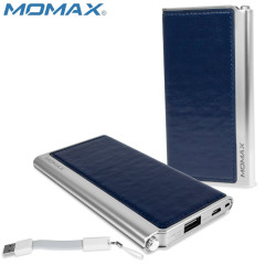 Momax iPower Elite Leather-Style Power Bank 5000mAh 2.1A - Blue