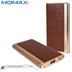 Momax iPower Elite Leather-Style Power Bank 5000mAh 2.1A - Brown