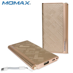Momax iPower Elite Power Bank 5000mAh 2.1A - Embossed Gold