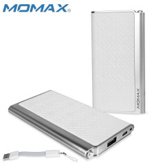 Momax iPower Elite Power Bank 5000mAh 2.1A - Embossed  White