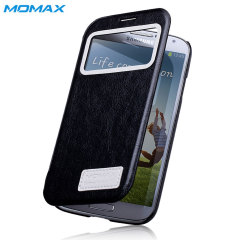Momax Samsung Galaxy S4 Stand View Case - Black