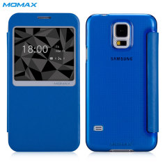Momax Samsung Galaxy S5 Flip View Case - Blue