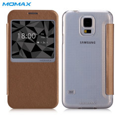 Momax Samsung Galaxy S5 Flip View Case - Gold