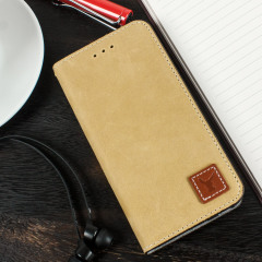 Moncabas Vintage Genuine Leather iPhone 6S / 6 Wallet Case - Camel