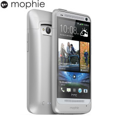 Mophie Juice Pack Case for HTC One - Silver