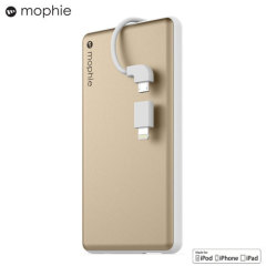 Mophie Powerstation Plus 6,000mAh Power Bank - Gold