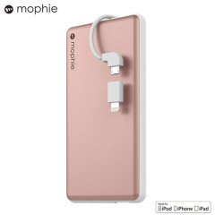 Mophie Powerstation Plus 6,000mAh Power Bank - Rose Gold