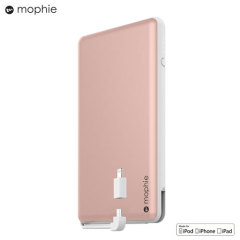 Mophie Powerstation Plus XL 12,000mAh Power Bank - Rose Gold