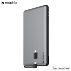 Mophie Powerstation Plus XL 12,000mAh Power Bank - Space Grey
