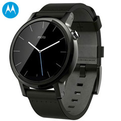 Motorola Moto 360 2nd Gen Smartwatch - 42mm - Black Leather