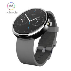 Motorola Moto 360 SmartWatch - Grey Leather