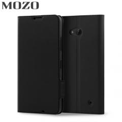 Mozo Classic Leather Style Microsoft Lumia 640 Wallet Case - Black