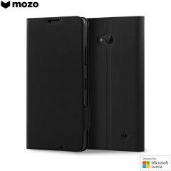 Mozo Classic Leather Style Microsoft Lumia 640 XL Wallet Case - Black
