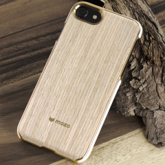 Mozo iPhone 7 Genuine Wood Back Cover - Light Oak