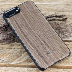 Mozo iPhone 7 Plus Genuine Wood Back Cover - Black Walnut