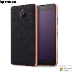 Mozo Microsoft Lumia 640 XL Back Cover Case - Black / Copper