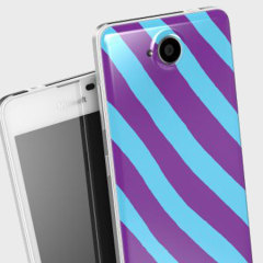 Mozo Microsoft Lumia 650 Back Candy Cover Case - Candy Stripes
