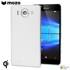Mozo Microsoft Lumia 950 Wireless Charging Back Cover - White
