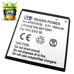 Mugen Power HTC EVO 3D, Sensation XE/XL Extended Battery - 1950mAh