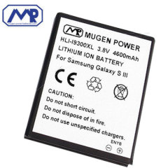 Mugen Samsung Galaxy S3 4600mAh Extended Battery & Back Cover - Blue